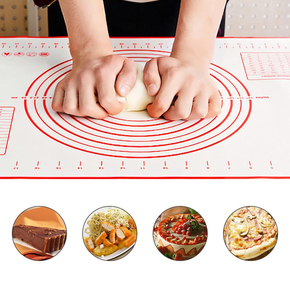 Extra Large Fondant Dough Rolling Counter Mat 40*60cm Silicone Baking Thick Pastry Mat Nonstick Heat-Resistance Oven Liner