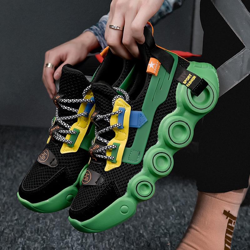 Zapatos de tenis antideslizantes para hombre, zapatillas deportivas cómodas de alta calidad, zapatos de malla, calcetín