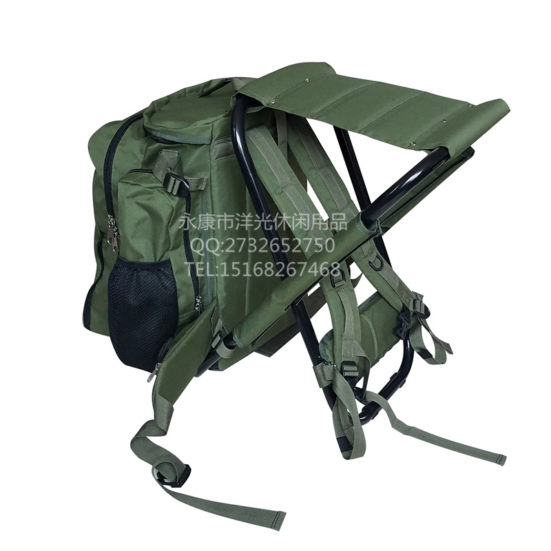 Outdoor Ride Luggage Folding Chair Multi-functional Backpack Chair Beach Chair Fishing Stool Yeying Deng Amazon Hot Selling