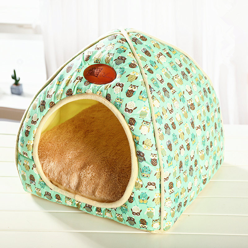 Soft Pet Beds Tent Rabbit Design Cat House With A Hole Warm Portable Removable Washable Cats Litter Kennel Nest Puppy 4