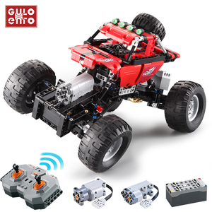 Technic City Remote Control Climbing Truck Blocks Car RC Off-Road Vehicle Building Bricks Motor Power Children DIY Toys Gifts