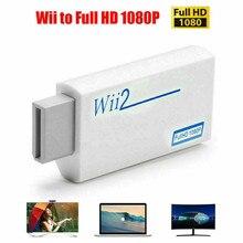 Volle HD Wii Zu HDMI-kompatibel Konverter 3,5mm Audio Video Adapter Für PC HDTV Monitor Display Unterstützung NTSC PAL 480i 480p