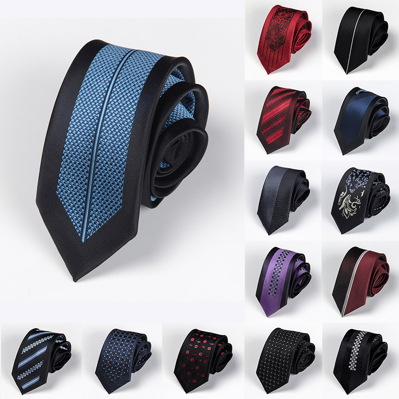 Men Tie 6cm Skinny Ties Luxury Mens Fashion Neckties Corbatas Gravata Jacquard Business Slim Tie Festival Banquet Accessories
