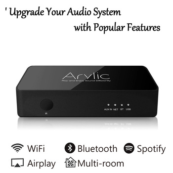 S10 WiFi and Bluetooth 5.0 Preamplifier Wireless Audio Receiver HiFi Stereo Streamer Multi-room DLNA Airplay Spotify Free APP