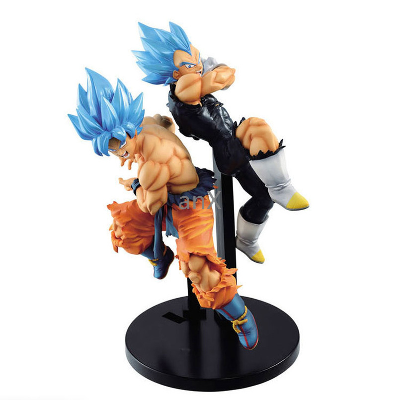 25 CM Dragon Ball Super Movie Broly TAG Fighters Goku Vegeta SSJ Blue Hair Figure Brinquedos PVC Action Figure Toys Kid Gift