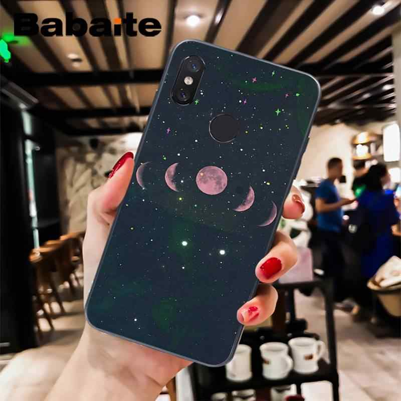 Babaite Beautiful Nature moon amazing Soft black Phone Case For xiaomi6 MIX2 note3 redmiK20 7 xiaomi8SE redminote4 note5 5A