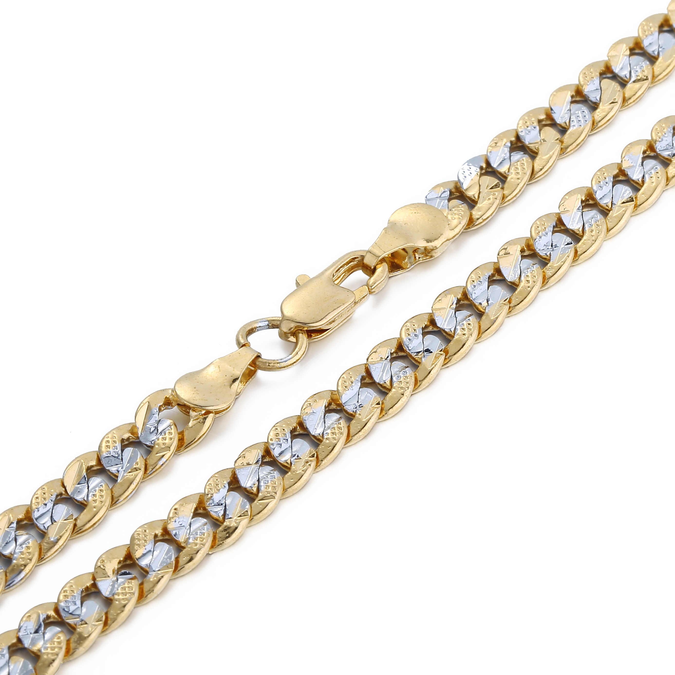 Trendsmax גברים של שרשרת זהב קובני קישור שרשרת שרשרת זכר תכשיטי 2018 סיטונאי Dropshipping מתנות 6mm KGN275