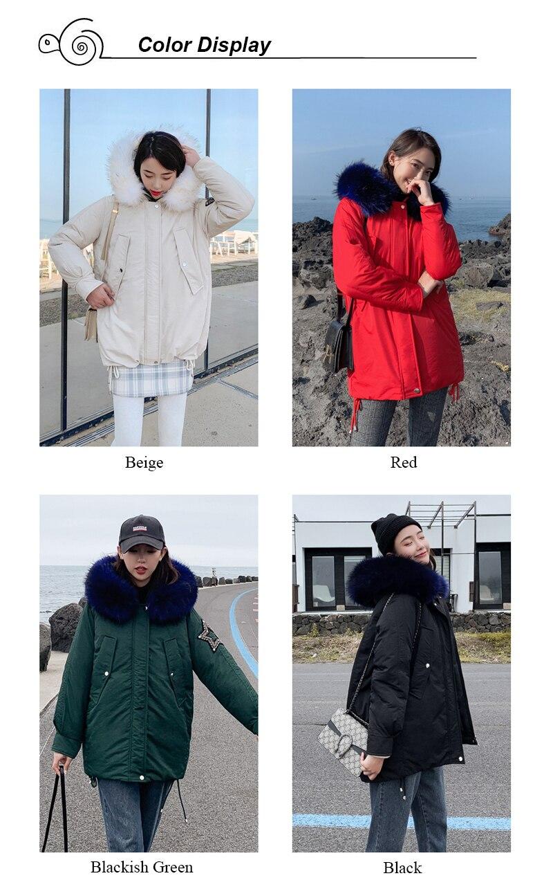 New Arrival 2019 Winter Jacket Women Cotton Padded Outwear Female Coat_A1_2