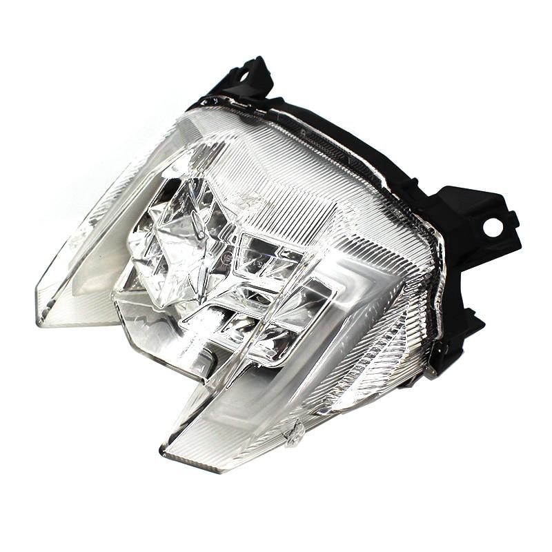 פלאזמה אופנוע LED הפנס האחורי בלם אחורי אזהרה Turn Signal מחוון מנורת זנב אור ימאהה MT09 MT09 MT 09 2017 2018 2019 (2)