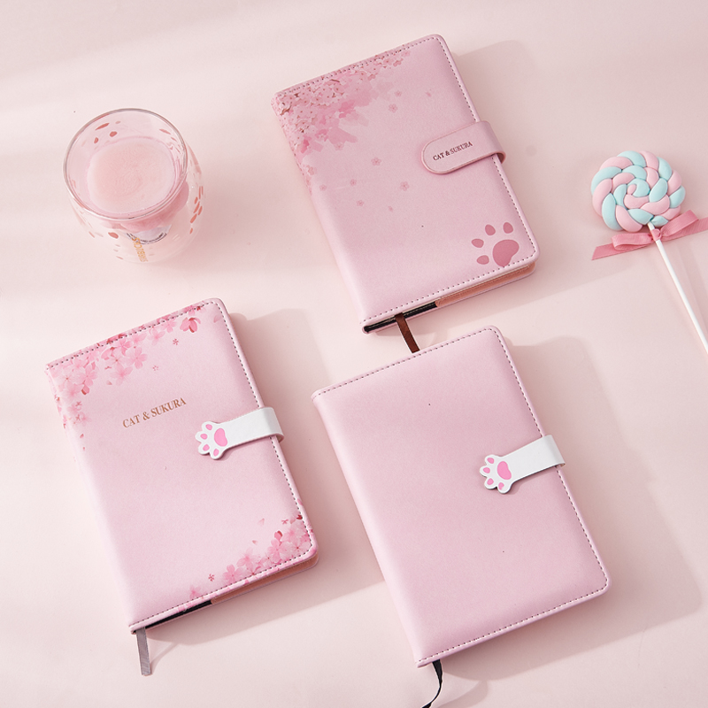 Image 4 - A5 Agenda 2019 2020 Schedule Planner Organizer Creative Kawaii Password Notebook with Lock Girl Diary Notebook Bullet Journal-in Notebooks from Office & School Supplies