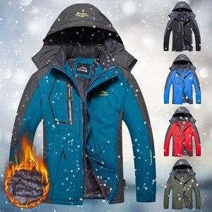 Image 2 - 冬男性屋外ジャケット防水暖かいコート男性カジュアル厚みのベルベットジャケットプラスサイズメンズ生き抜く登山オーバーコート