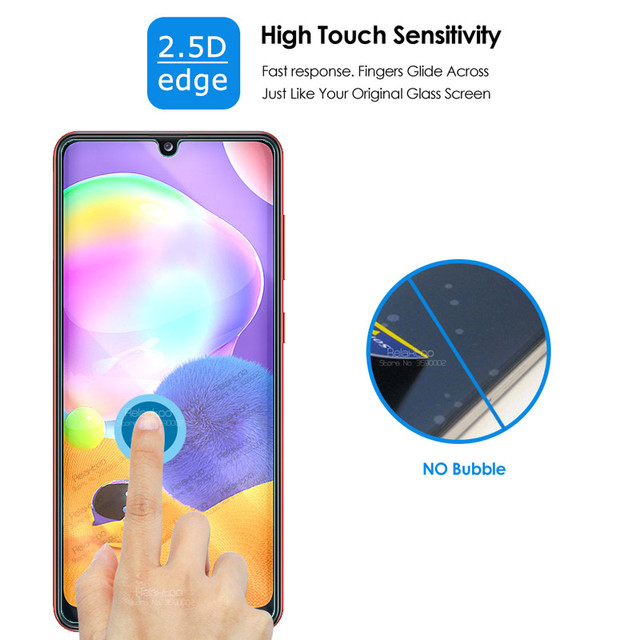 """2-in-1 camera lens glass for samsung a31 a 31 screen protector for samsung galaxy a31 2020 sm-a315f/ds 6.4"""" protective glas film 5"""