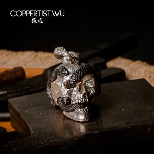 Image 4 - Кулон в виде черепа и змеи COPPERTIST.WU S925 Серебряное ювелирное изделие Ограниченная серия украшения готические подарки для мужчин только 99 штук