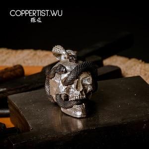 Image 4 - Coppertiste. Pendentif crâne de WU bijoux en argent collier sous forme de serpent, décoration en édition limitée, cadeaux gothiques pour hommes 99 pièces uniquement