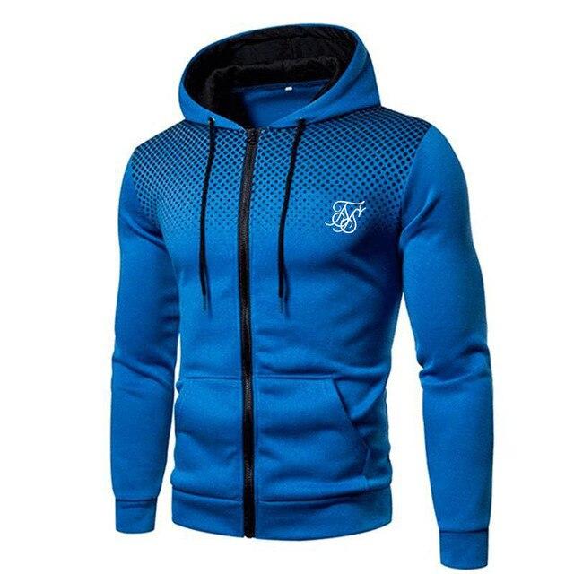 Ropa Hompre High Street Brand SikSilk Plus Velvet Print Polka Dot Men's Hoodie Outdoor Street Sports Running Training Sweatshirt 6