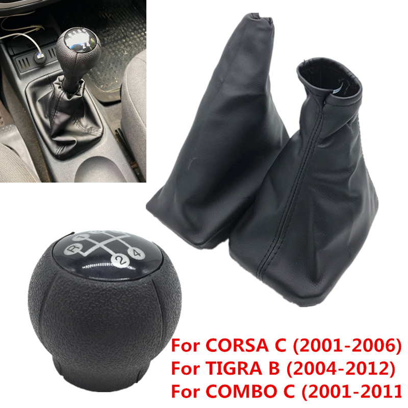 Para opel corsa c (01-06) tigra b (04-12) combo c (01-11) botão do deslocamento de engrenagem do carro alavanca gaiter bota carro apertos de freio de mão de estacionamento caso