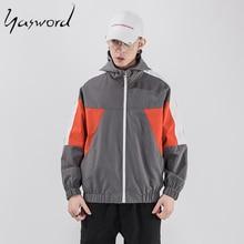 Yasword Jacket Men Loose Jackets Hooded Windbreaker School Fashion High Quality Coats 2019 New autumn