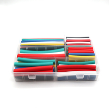 102pcs 3:1 PE heat shrink tubing with glue Assortment Adhesive Electrical Wire Cable Wrap Electric Insulation Kit