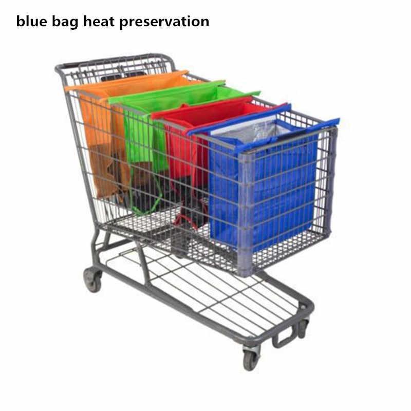 DIGERUI رائجة البيع 4 قطعة/المجموعة عربة التسوق حقائب تسوق قابلة للطي قابلة لإعادة الاستخدام حقيبة تسوق للبقالة ايكو اكياس السوبرماركات Bolsas