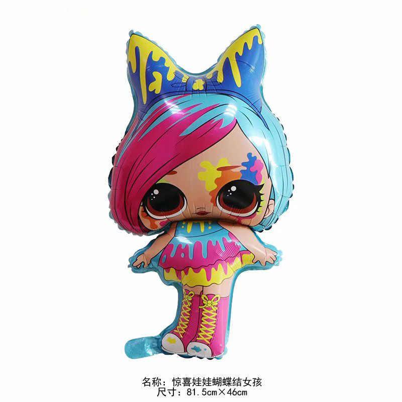 Аниме LOL куклы с сюрпризом 18 дюймов фигурные Воздушные шары игрушки для вечеринки, комнаты, фольгированные шары, игрушки для девочек, подарки на день рождения