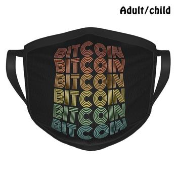 Bitcoin Vintage Retro Cryptocurrency Fashion Print Funny Pm2.5 Reusable Face Mask Bitcoin Hodl Btc Crypto Cryptocurrencies Iota image