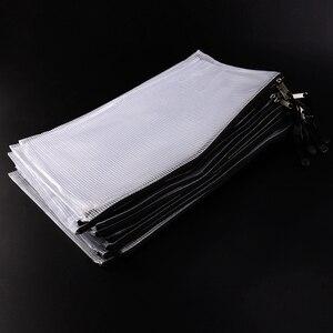 Image 3 - 15 حزمة شبكة زيبر الحقيبة حقيبة مستندات A4 مقاوم للماء وثيقة الحقيبة للمدرسة اللوازم المكتبية ، عبر غرزة تنظيم التخزين