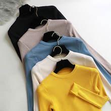 2020 вязаный женский свитер с круглым вырезом пуловеры  весна