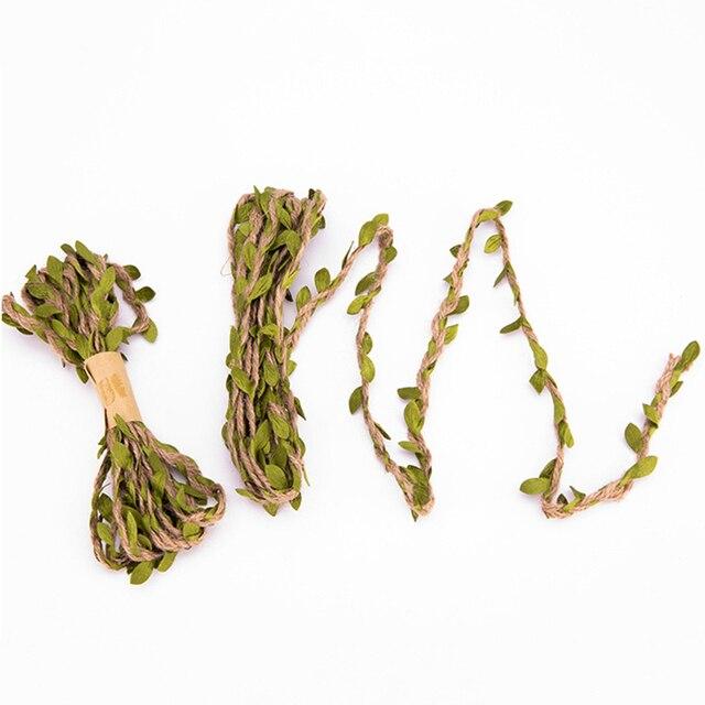 Фото 3 м/лот 5 мм имитация листьев тканая пеньковая веревка сделай цена