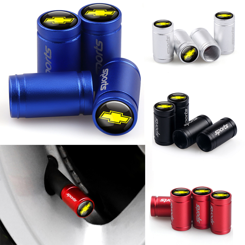 4pcs Car Styling New Wheel Tire Valve Cap For Chevrolet Cruze Camaro Captiva Aveo Silverado Lacetti Spark Epica Auto Accessories