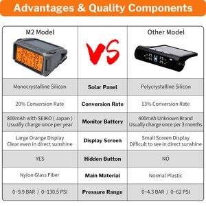Image 5 - Tire Pressure Monitoring System TPMS Sensor Solar Auto Sicherheit Smart Reifen Control Wireless 4 Räder Externe Interne Sensoren