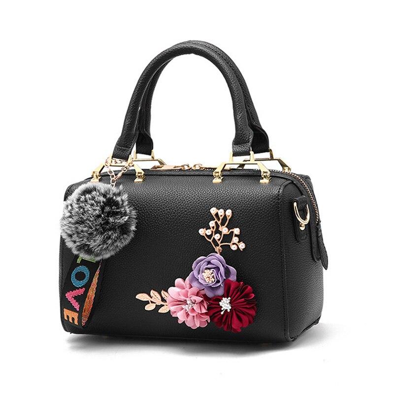 SHUNRUYAN nouvelles femmes sac en trois dimensions fleur mode décontracté fourre-tout sac à main sac à bandoulière sac à bandoulière fermeture éclair dames sac
