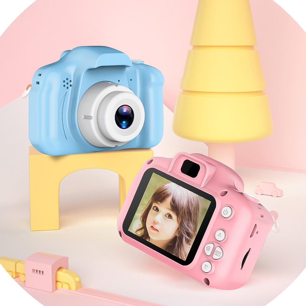 H631a4506c9084249a234dbebf0c81fbdT Kebidu Mini Digital Camera 2 Inch Cartoon Cute Camera Toys Children Birthday Gift 1080P Toddler Toys camera