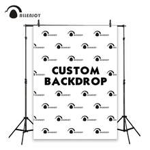 Allenjoy customize backdrop background size kids birthday party baby shower wedding photozone logo wall banner photography link(China)