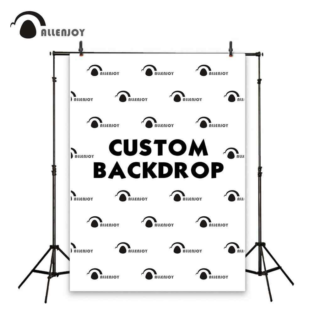 Allenjoy dostosuj tło rozmiar tła dzieci urodziny baby shower wedding photozone ściana z logo banner fotografia link