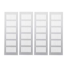 4Pcs Wide Aluminum alloy Air Vent Ventilation Grille For Closet Shoe Cabinet Air Conditioner 250Mm