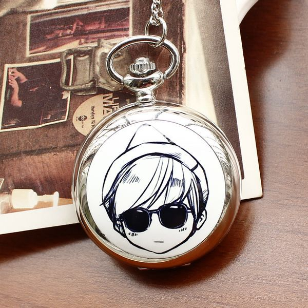 2020 Retro Style Men And Women Pocket Watch Necklace Quartz Pocket Watch Fashion Enamel Cartoon Female Children Relogio Feminino