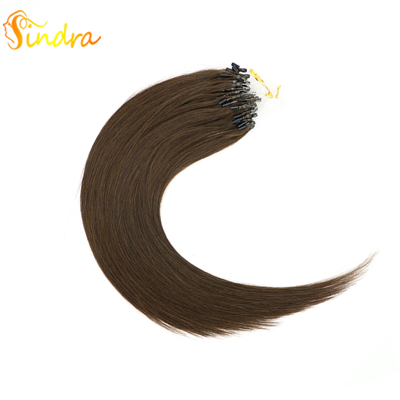 Sindra 1g/Piece 100g 50g Per Pack Micro Link Remy Hair Extensions 100% Human Hair Extensions Micro Rings 14-24 Inch