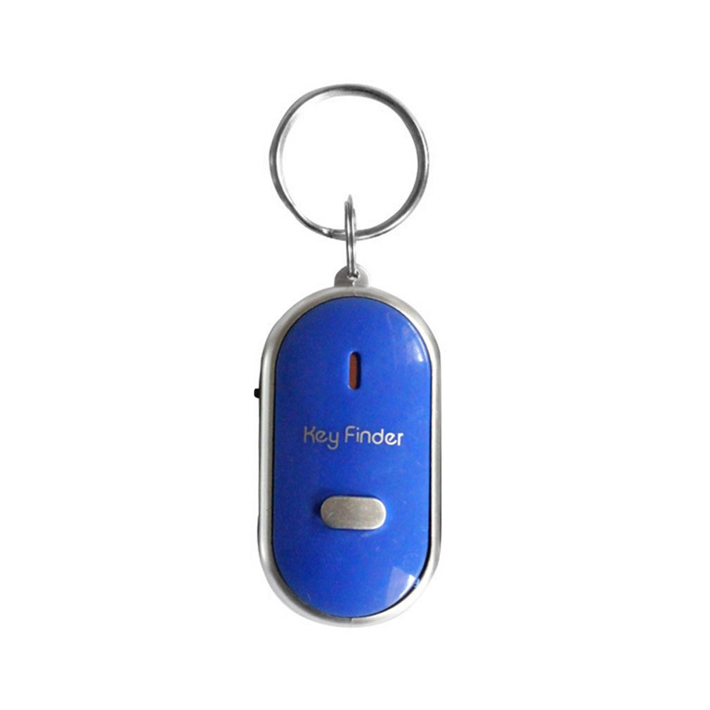 Светодиодный свисток для поиска ключей мигающий звуковой сигнал с контролем звука сигнализация анти-потерянный локатор трекер с брелоком