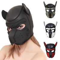 Halloween Sexy Cosplay Puppy Mask Dog Full Soft Head Mask Prop Padded Rubber Puppy Play Mask For Masquerade