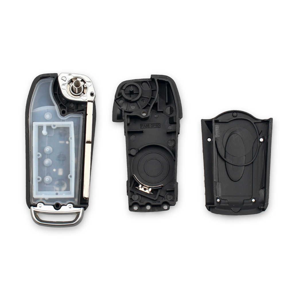 KEYYOU 3 زر تعديل الوجه للطي التحكم عن بعد مفتاح السيارة قذيفة غطاء لسيارة فورد فوكس 2 3 مونديو فييستا حافظة مفتاح السيارة الأتوماتيكية
