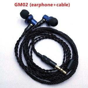 Image 3 - GM02  original In Ear earphone 10mm metal earphone quality sound HIFI music ; DIY MMCX jack,8 core earphone cable