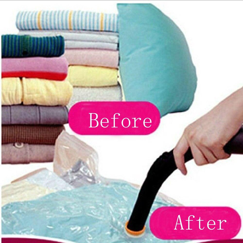 Vacuum Bag Storage Bag Home Organizer Transparent Border Foldable Clothes Organizer Seal Compressed Travel Saving Bag