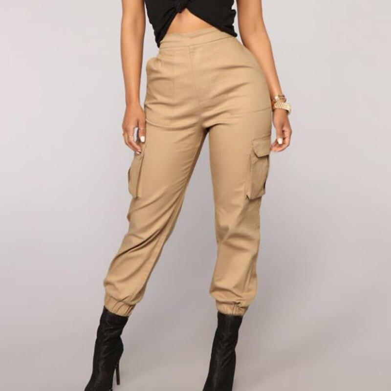 Женские брюки от Harlan, модные брюки с несколькими карманами, комбинезоны, однотонные брюки кэжуал, цветные брюки с высокой талией