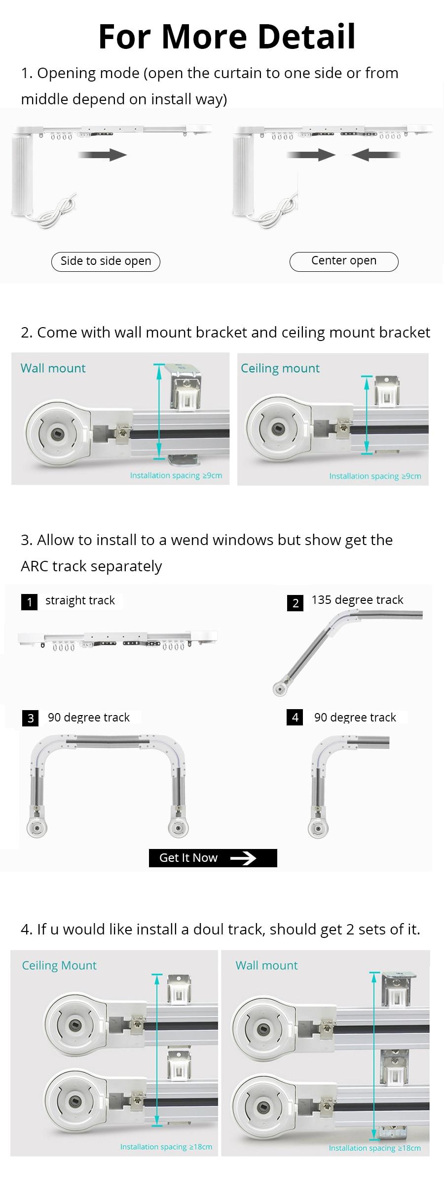 Zemismart inteligente cortina do motor cego alexa