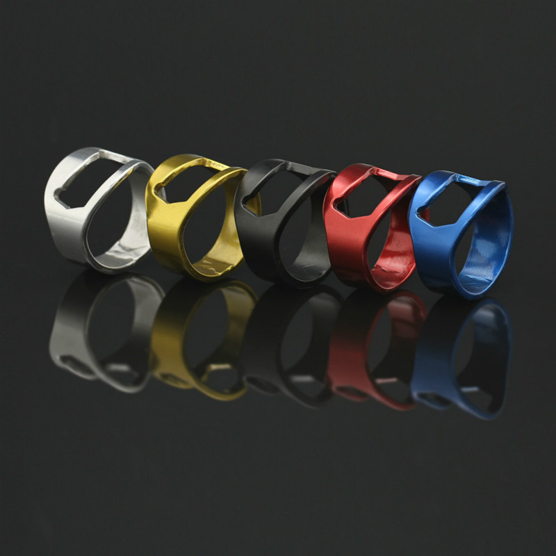 2PCs Four Colors Stainless Steel Finger Ring Ring-Shape Beer Bottle Opener For Beer Bar Tool