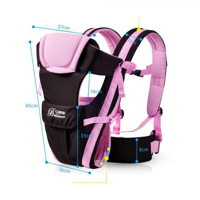 Image 5 - Beth Bear 0 30 Months Breathable Front Facing Baby Carrier 4 in 1 Infant Comfortable Sling Backpack Pouch Wrap Baby Kangaroo New-in Backpacks & Carriers from Mother & Kids