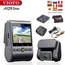 Видеорегистратор Viofo A129 Duo, двухканальный, HD 1080P, Wi-Fi, Bluetooth, G-датчик, F1.6, ночное видение, GPS, оригинал