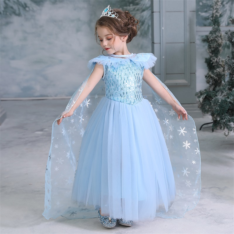 H631b48e64df04b2b94593fd082e8638dZ 2019 Children Girl Snow White Dress for Girls Prom Princess Dress Kids Baby Gifts Intant Party Clothes Fancy Teenager Clothing