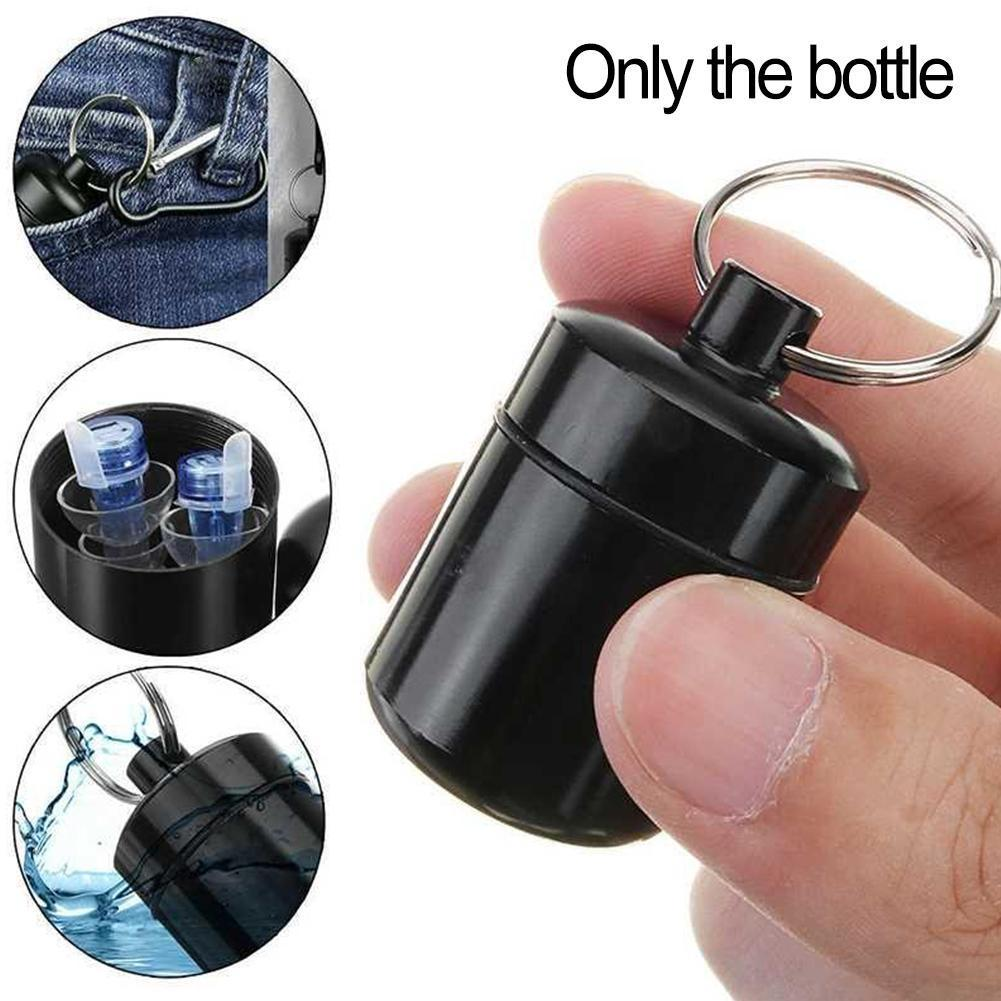 Outdoor Waterproof Mini Aluminum Alloy Pill Box Waterproof Sealed Earplug Container With Ring Money Storage Key Portable Bo C1A0