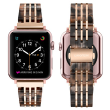 Stainless Steel Strap for Apple Watch Band 6/5/4/3/2 38mm 40mm 42mm 44mm Metal Sport Watchband for iwatch series Myl 32v